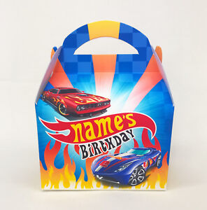 Hot Wheels Cars Personalised Children Party Boxes Gift Favour Bag Favour treat