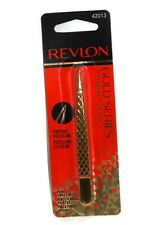 REVLON GOLD SERIES TITANIUM COATED PINPOINT TWEEZER #42013 new & carded