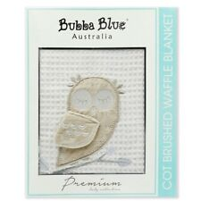 NEW Bubba Blue Cot Brushed Waffle Blanket - Mod the Owl