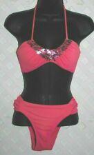 Victoria's Secret Shaded Pink Two-Piece Adjustable Halter Bikini Set Swimsuit S