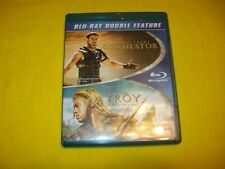Gladiator & Troy Bluray Russell Crowe Brad Pitt Eric Bana Orlando Bloom