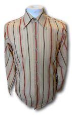 Vintage 1960s 1970s groovy psych striped polycotton shirt Carnaby Street style