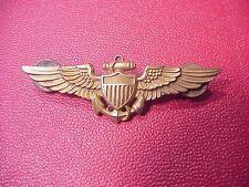 ORIGINAL WWII NAVAL AVIATOR WINGS PILOT BADGE - NS MEYER STERLING - FULL SIZE