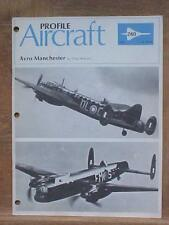 Avro Manchester aviation book Profile Publication No. 260 published in the UK