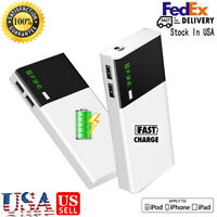 900000mAh Power Bank UltraThin Dual USB Portable External Battery Backup Charger