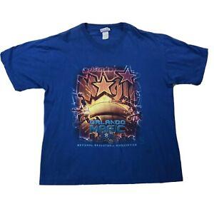 Vtg NBA Orlando Magic Basketball Shirt Sz XL Blue Multicolor Short Sleeve Tee