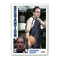 Michael Scott Novelty Basketball Trading Card Replica The Office Dunder Mifflin