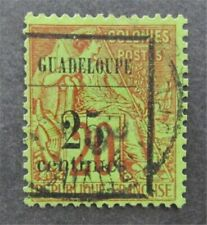 nystamps French Guadeloupe Stamp # 5 Used $33 Signed   A9y3040