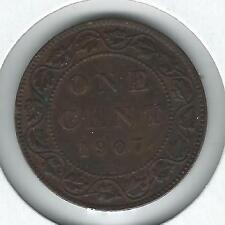 Canada Large Cent 1907-H AU
