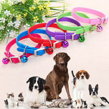 Lovely Elastic Collar With Small Bell for Pet Cat Dog Puppy Adjustable Buckle-be