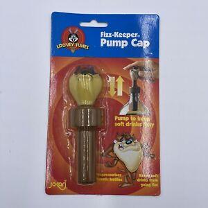 FIZZ KEEPER Soda Pop Drink Bottle Cap Hand Air Pump Tasmanian Devil Looney Tunes