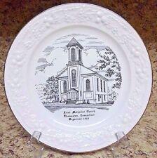 Collectible Plate First Methodist Church Thomaston, Connecticut Organized 1818