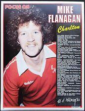 Jugador de fútbol enfoque Mike Flanagan Charlton disparar