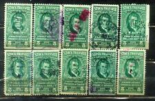 USA $5 X 10 Stock Transfer-- Series 1943-- Old Stamps