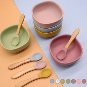 Baby Silicone Suction Bowl With Spoon Feeding Dinner Set for Baby and Toddler UK