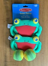 Melissa & Doug Skippy Frog Toss & Grip Game One Size Multi #6683 w/ 2 Balls.