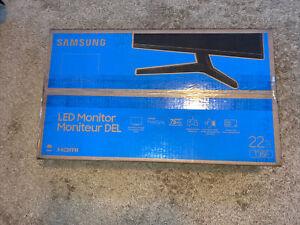 "SAMSUNG T35F 22""FHD 75hz FreeSync IPS Panel Dark Blue Gray LF22T350FHNXZA SEALED"