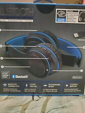 Sentry Bluetooth Stereo Headphones/Mic Wireless Rechargeable Folding Blk fri.Onl
