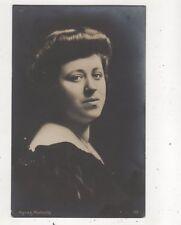 Agnes Nicholls English Opera Soprano Vintage RP Postcard Music 628b