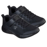 Kids Boys Skechers Trainers School Strap Casual Shoes Sneakers Black