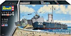 Revell G 5169 WWII US Navy Landing Ship Medium (Bofors) plastic model kit 1/144