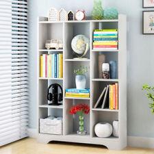 11 Cube White Bookshelf Storage Shelves Office Shelving Display Rack Bookcase UK