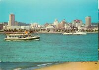 Chrome Postcard CA J587 Harbor Excursion Boat Silvergate San Diego Skyline Ocean
