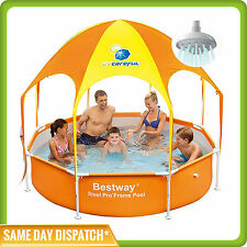 Bestway Kids Splash in Shade Play Wading Pool with Canopy and Sprayer UPF 40+