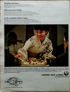 Japan Air Lines Only japan air lines Fly's All 3 Ways from London Advert 1967