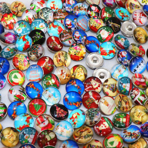 Fashion 50pcs/Lot Christmas Gift Snaps buttons 18mm For Ginger snaps jewelry