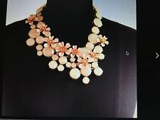 JCREW JEWELED WATER LILY NECKLACE NWT/GIFTBOX #G3335  RETAIL $148-Sold out!