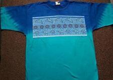 Gr S  T Shirt  Ocean Dreaming Dolphin Australien blau-türkis batik