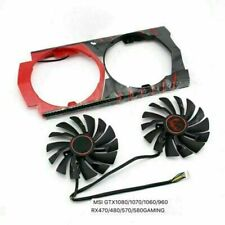 6Pin Cooling Fan for MSI GTX1080 1070 1060 960 RX470 480 570 580 GAME Card 2pcs