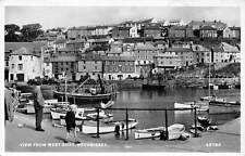 Mevagissey, View from West Quay boats port, auto voitures cars