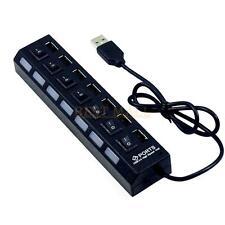 7 Puertos Hub para PC Laptop USB 2.0 Adaptador de extensión externo de alta velocidad Nuevo