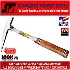 ESTWING E13PM 13oz POINTED TIP ROCK PICK HAMMER W/ MILLED FACE & LEATHER HANDLE