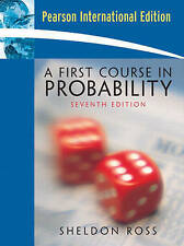 A First Course in Probability, Ross, Sheldon, Used; Very Good Book