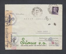 ITALY 1940s TWO WWII CENSORED COVERS SAVONA & MILAN TO BADEN-BADEN GERMANY