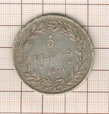 5 Francs argent Louis Philippe tête nue 1831 W Lille tranche en creux