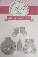 Nini's Things Baby Items no. 1 cutting stencil set die dies Elegant scrapbook