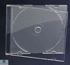 100 Single CD Jewel Case Ultra Slim 5.2mm Frosted Clear Empty Replacement HQ AAA