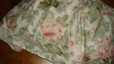 Laura Ashley Cottage Rose Floral Full Bedskirt Pink Green White Floral Euc