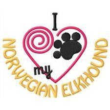 "I ""Heart"" My Norwegian Elkhound Short-Sleeved T-Shirt 1324-2 Size S - Xxl"