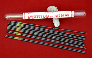 Lot of 4 Antique Stabilo Swan Pencil Co. 2H Leads Tubes, Germany (#x4271)