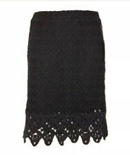 Anthropologie Skirt in Black Lace & Crochet