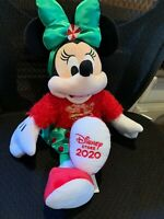 "Disney Store 2020 Minnie Mouse Holiday Cheer Christmas Med 17/"" Plush Gingerbread"