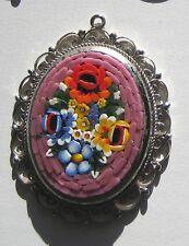 Vintage Italian doll house miniature porcelain picture wire decorative frame