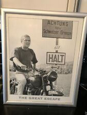 Steve McQueen The Great Escape Framed Picture
