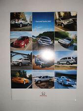 HONDA CARS AND TRUCKS 2007 BROCHURE CATALOGUE CIVIC ACCORD FIT S2000 RIDGELINE +