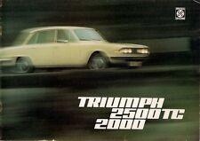 Triumph 2000 & 2500 TC Mk2 1974-75 UK Market Sales Brochure Saloon Estate